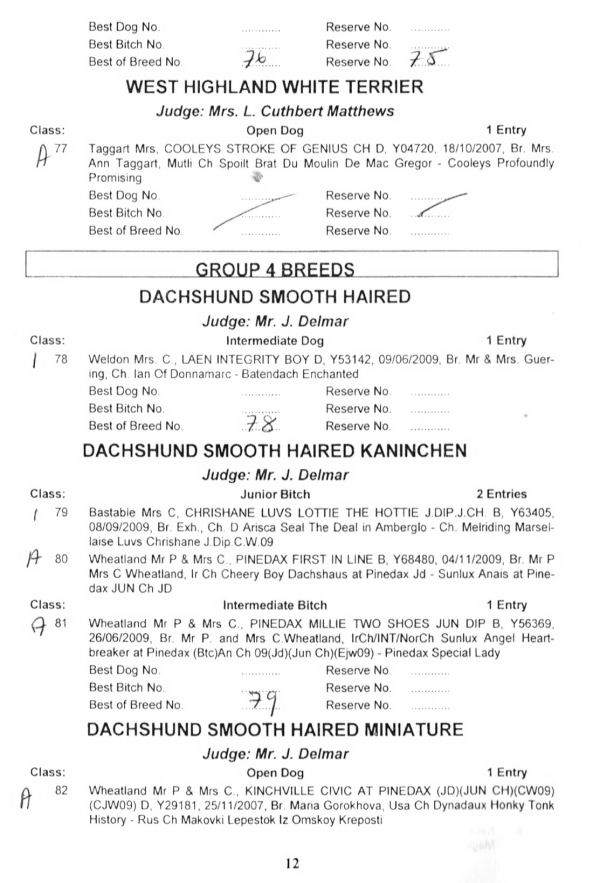 Ie Ireland Dog Show Results
